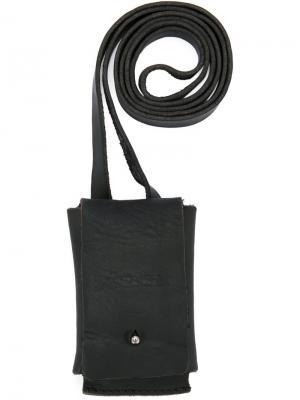 Кожаный портсигар Uma Wang. Цвет: черный