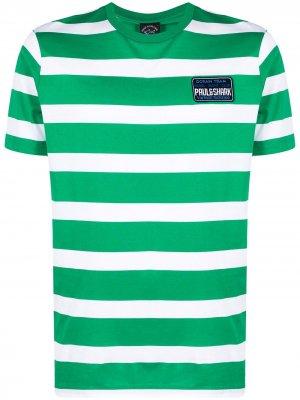 Футболка с логотипом Paul & Shark. Цвет: зеленый