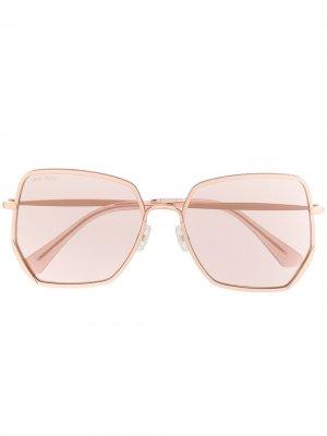 Солнцезащитные очки Aline в массивной оправе Jimmy Choo Eyewear. Цвет: розовый