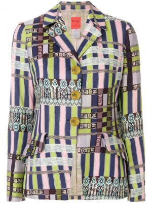 Легкий пиджак Christian Lacroix Vintage. Цвет: разноцветный