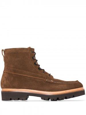 Ботинки Rocco на шнуровке Grenson. Цвет: коричневый