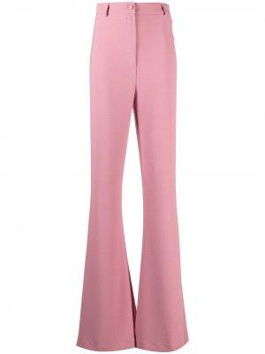 Расклешенные брюки Hebe Studio. Цвет: розовый