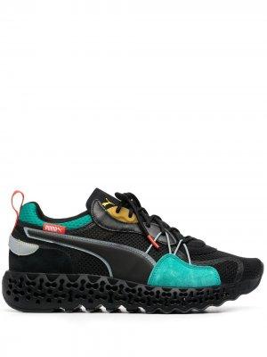 Кроссовки на шнуровке Puma. Цвет: черный