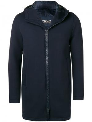Soft zipped coat Herno. Цвет: синий