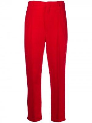 Укороченные зауженные брюки Isabel Marant. Цвет: красный