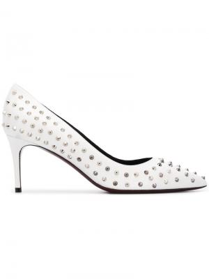 Studded pointed pumps Deimille. Цвет: белый
