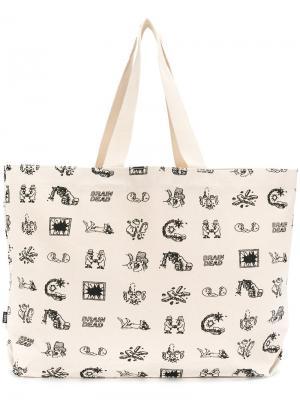 Большая сумка-тоут Braindead x Vans. Цвет: телесный