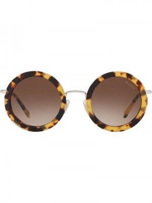 Солнцезащитные очки Délice Miu Eyewear. Цвет: коричневый