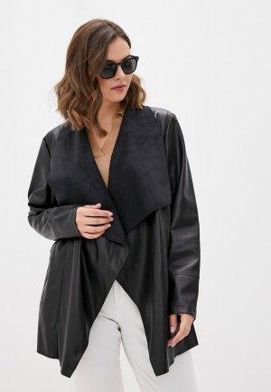 Куртка кожаная Evans. Цвет: черный