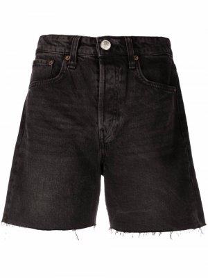 Джинсовые шорты с необработанными краями Rag & Bone. Цвет: черный