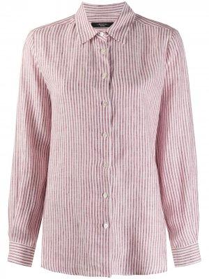Полосатая рубашка с длинными рукавами Weekend Max Mara. Цвет: красный