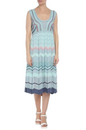 Платье Didier Parakian. Цвет: голубой