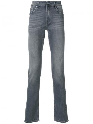 Slim fit jeans 7 For All Mankind. Цвет: серый