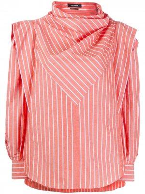 Структурированная блузка Welly в полоску Isabel Marant. Цвет: оранжевый