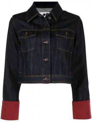 Укороченная джинсовая куртка Ports 1961. Цвет: синий