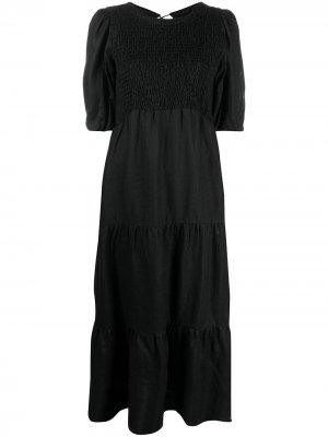 Платье Alberte с пышными рукавами Faithfull the Brand. Цвет: черный