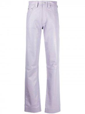 Прямые брюки Kwaidan Editions. Цвет: розовый