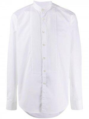 Delloglio рубашка с воротником-стойкой Dell'oglio. Цвет: белый
