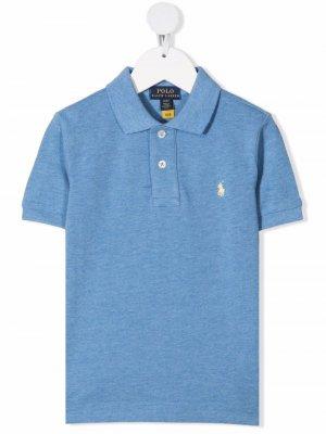 Рубашка поло с вышивкой Polo Pony Ralph Lauren Kids. Цвет: синий