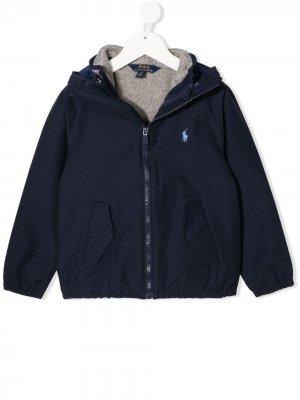 Комплект из жилета и куртки с капюшоном Ralph Lauren Kids. Цвет: синий