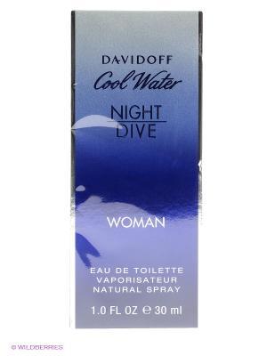 Туалетная вода Cool Water Night Dive, 30 мл. DAVIDOFF. Цвет: прозрачный