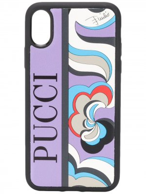 Чехол для iPhone X с абстрактным принтом Emilio Pucci. Цвет: фиолетовый