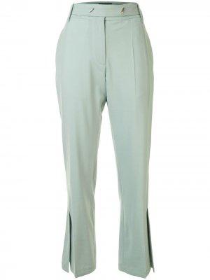 Расклешенные брюки с разрезами Eudon Choi. Цвет: зеленый