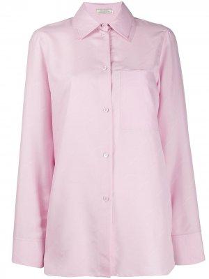 Рубашка с жаккардовым логотипом Nina Ricci. Цвет: розовый