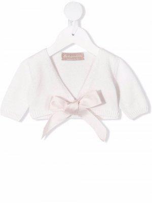Кардиган с короткими рукавами и завязками La Stupenderia. Цвет: розовый