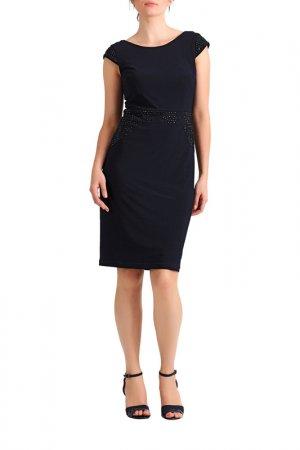 Трикотажное платье Apart. Цвет: мультицвет