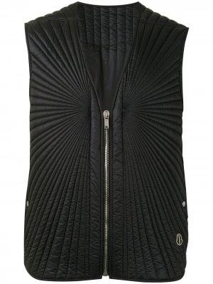 Стеганый жилет Moapa на молнии Moncler + Rick Owens. Цвет: черный