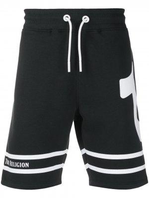 Спортивные шорты с логотипом True Religion. Цвет: черный