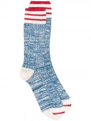 Полосатые носки Nautical Turn THUNDERS LOVE. Цвет: синий