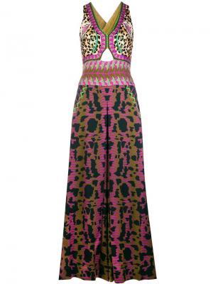 Mixed print jumpsuit Temperley London. Цвет: зеленый