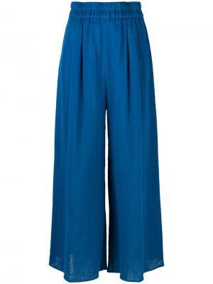 Широкие пляжные брюки Mara Hoffman. Цвет: синий