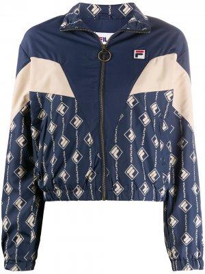 Спортивная куртка с логотипом Fila. Цвет: синий
