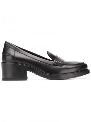 Лоферы на каблуке Tod's. Цвет: черный