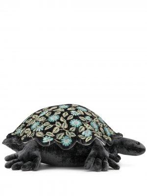 Мягкая игрушка в виде черепахи с вышивкой Anke Drechsel. Цвет: черный
