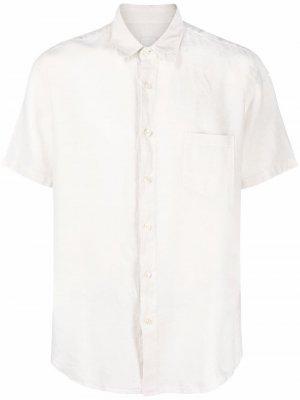 Рубашка на пуговицах 120% Lino. Цвет: белый