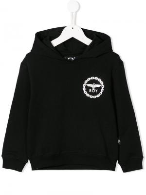 Eagle logo print hoodie Boy London Kids. Цвет: черный