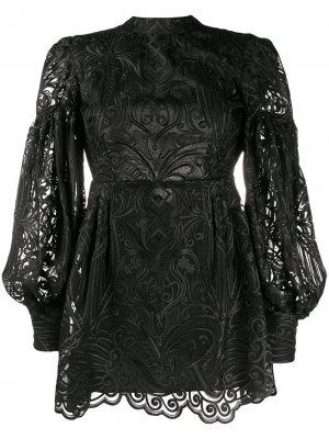 Коктейльное платье с вышивкой Wandering. Цвет: черный