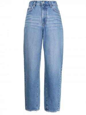 Зауженные джинсы Porter с завышенной талией Nobody Denim. Цвет: синий