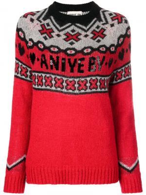 Вязаный свитер с логотипом Aniye By. Цвет: красный