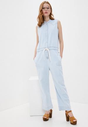 Комбинезон джинсовый Woolrich. Цвет: голубой