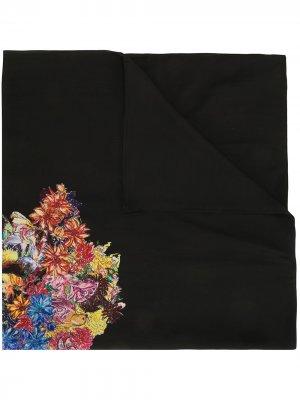 Бандана с цветочным принтом Yohji Yamamoto. Цвет: черный