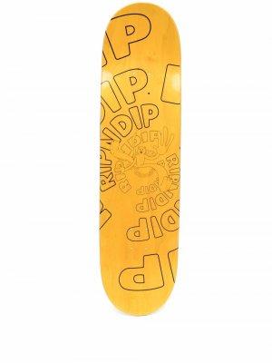 Дека для скейтборда Descendant Ripndip. Цвет: желтый