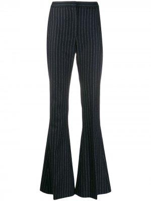 Расклешенные брюки в тонкую полоску Alexander McQueen. Цвет: 4046 голубой