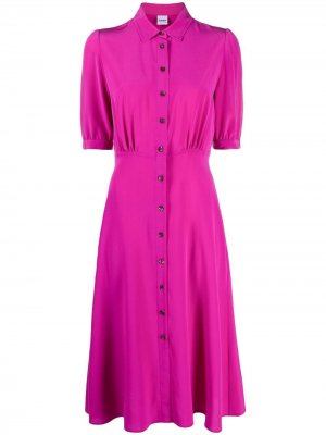 Платье-рубашка на пуговицах Aspesi. Цвет: розовый