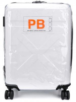 Чемодан For Travel с тисненым логотипом Off-White. Цвет: белый