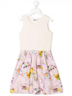 Платье-трапеция с вышивкой Molo. Цвет: нейтральные цвета